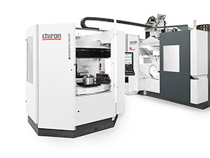 Thanks to the combination of the CHIRON FZ 16 S five axis with the new automation solution VariocellPallet, small batch sizes and complex workpieces can be machined fully automatically and, thus, in a highly flexible way.